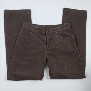PrAna Men Corduroy Pants Straight Leg Brown
